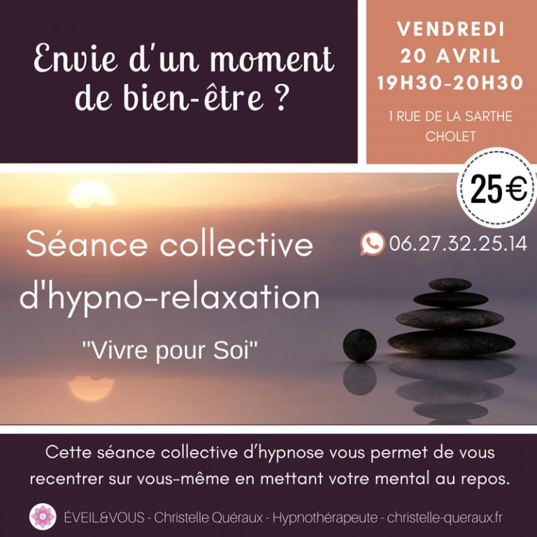 Invitation hypno relaxation Vivre pour Soi